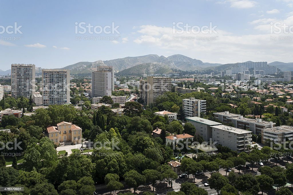 View of Marseille, France stock photo
