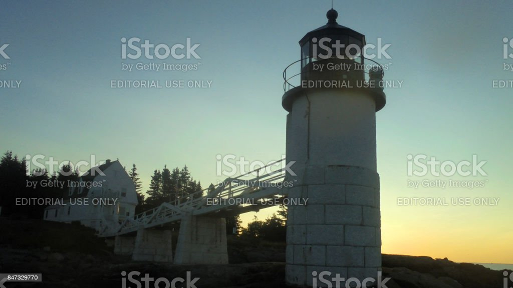 View of Marshall Point Lighthouse stock photo