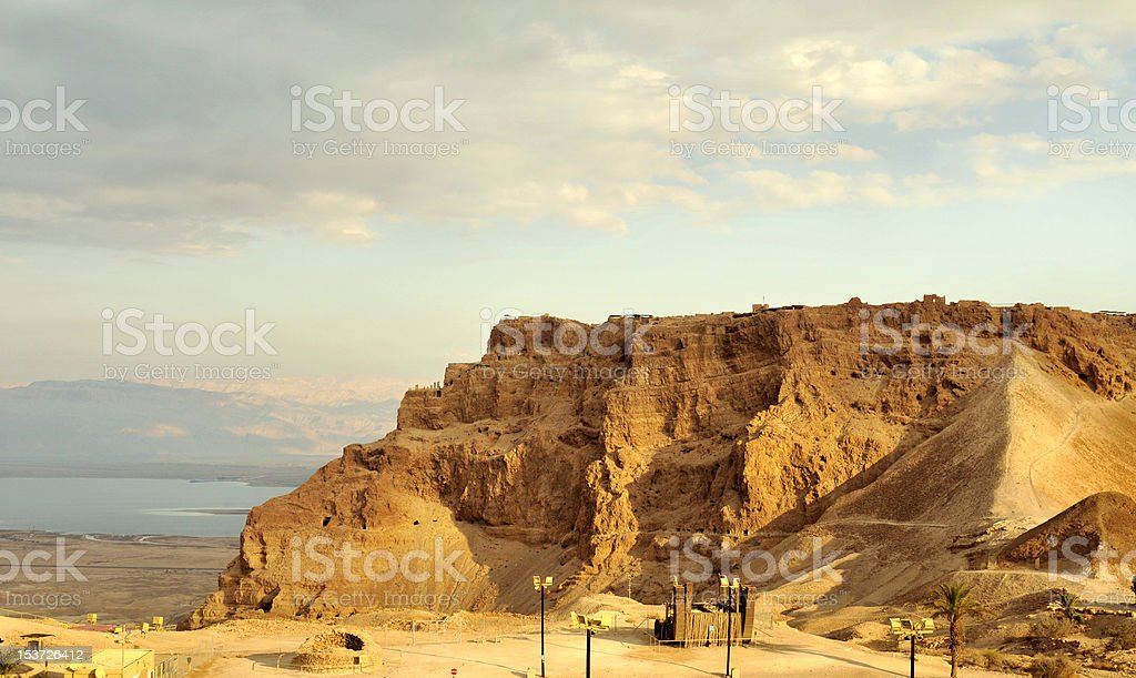 View of Masada stronghold royalty-free stock photo