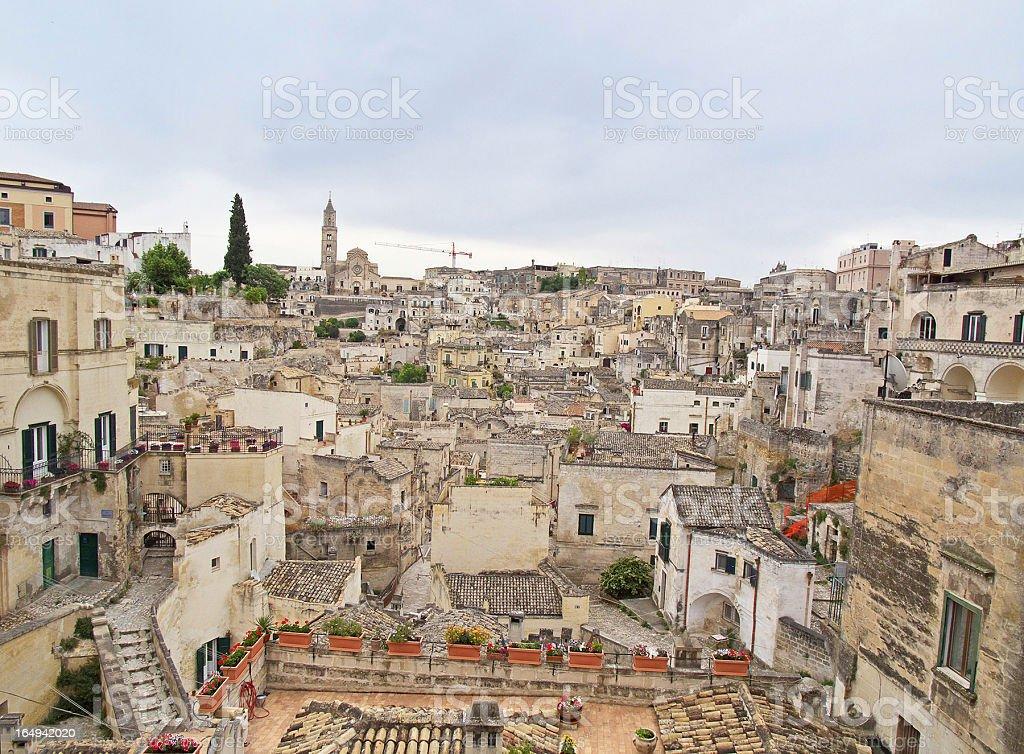 View of Matera. Basilicata. royalty-free stock photo