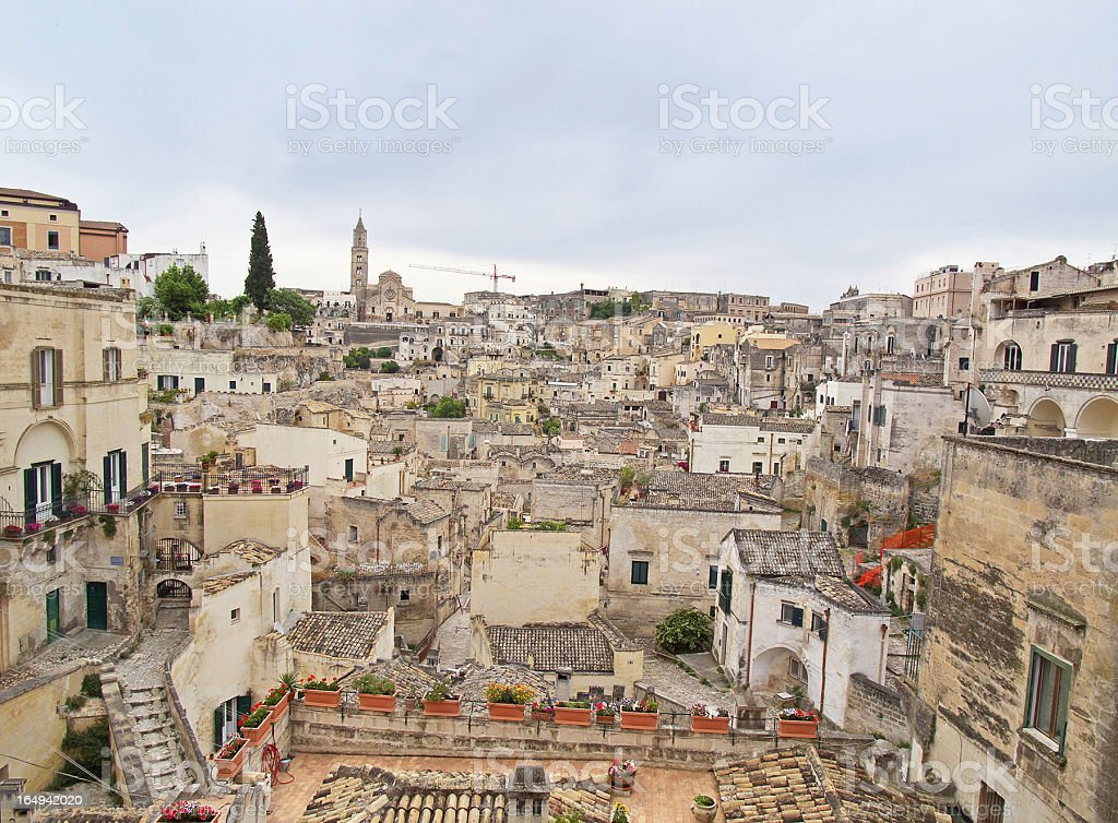 View of Matera. Basilicata. stock photo