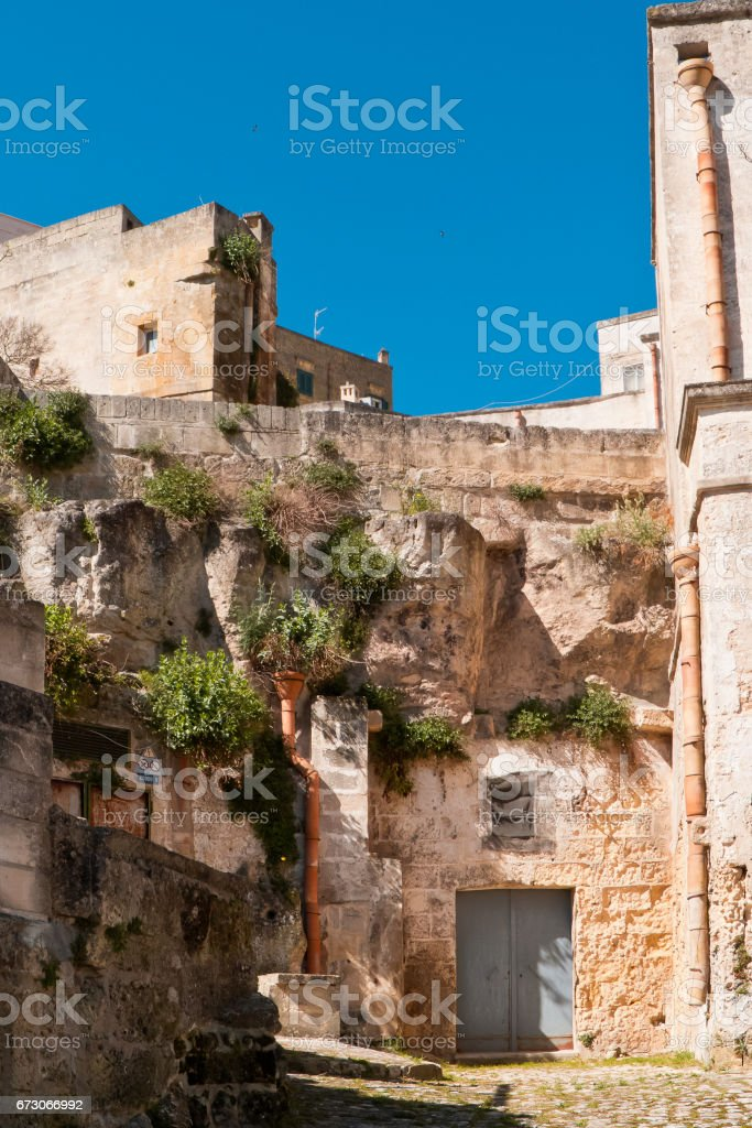 View of Matera city. stock photo