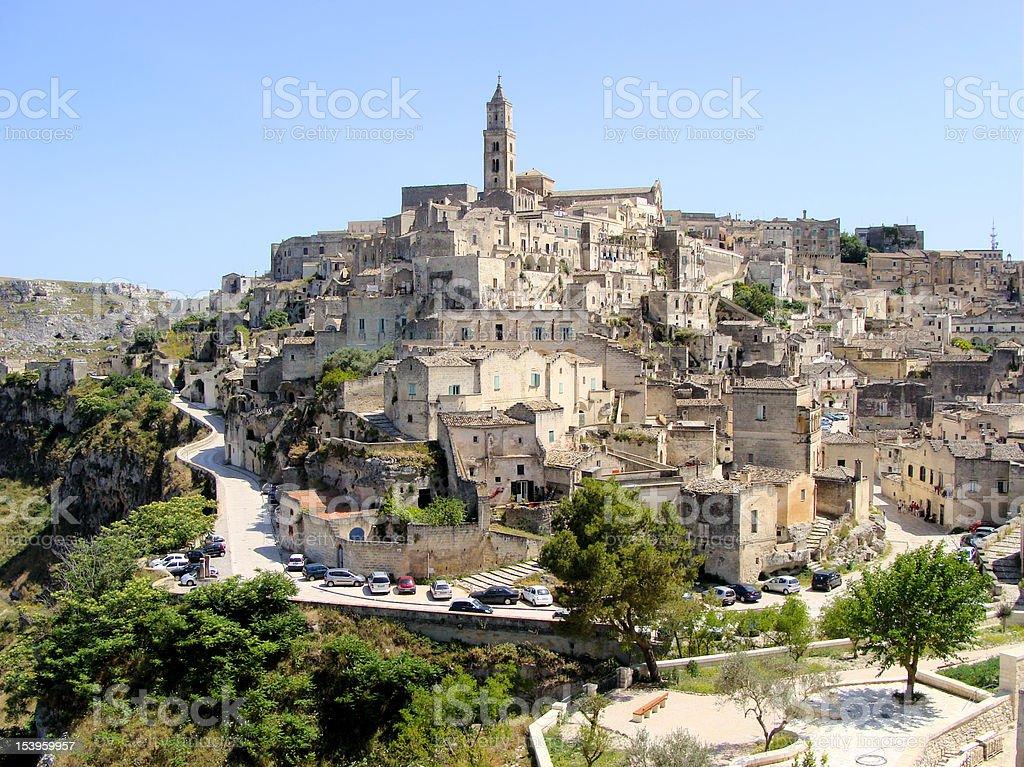 View of Matera, Italy stock photo