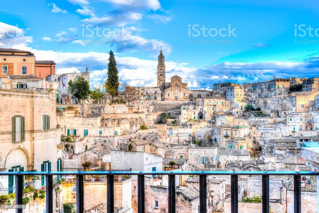 View of Matera, Italy, UNESCO stock photo