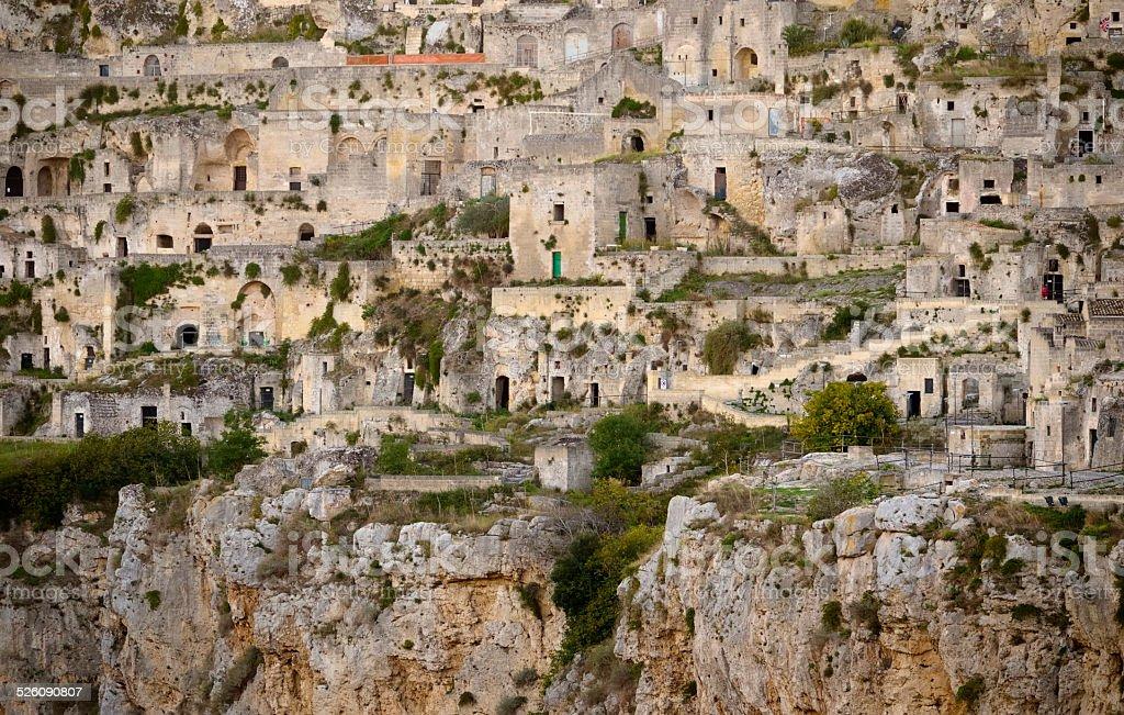 View of Matera 'Sassi' Matera, Italy stock photo