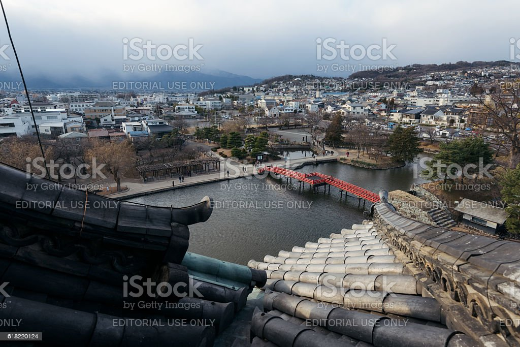 View of Matsumoto from the Castle,Japan stock photo