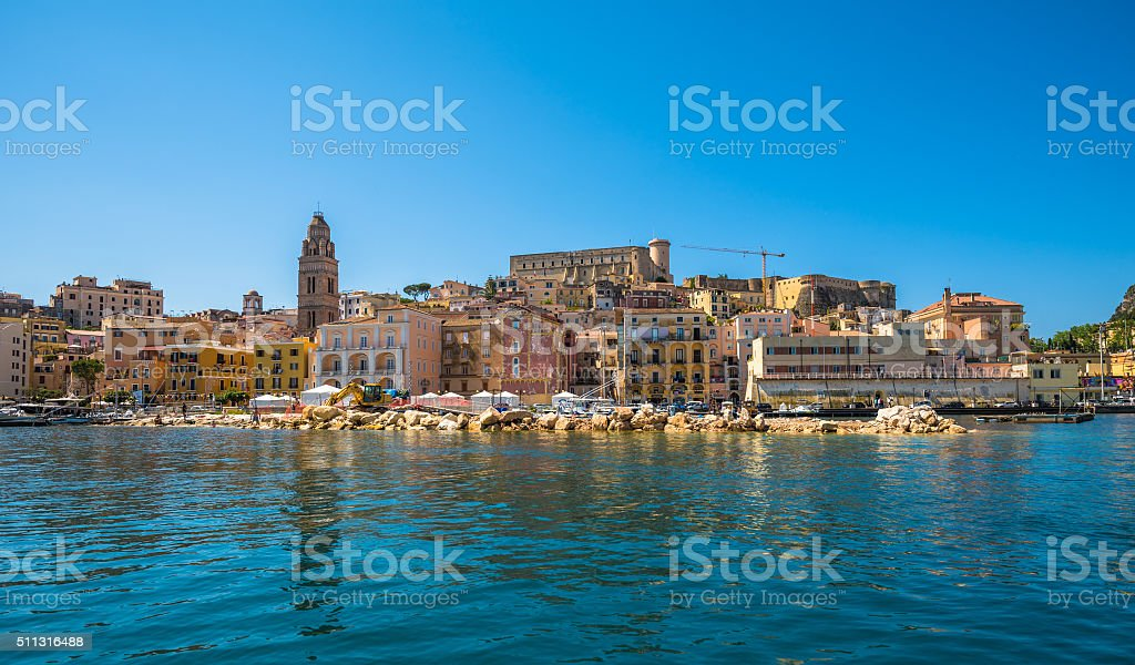 View of medieval town of Gaeta, Lazio, Italy stock photo