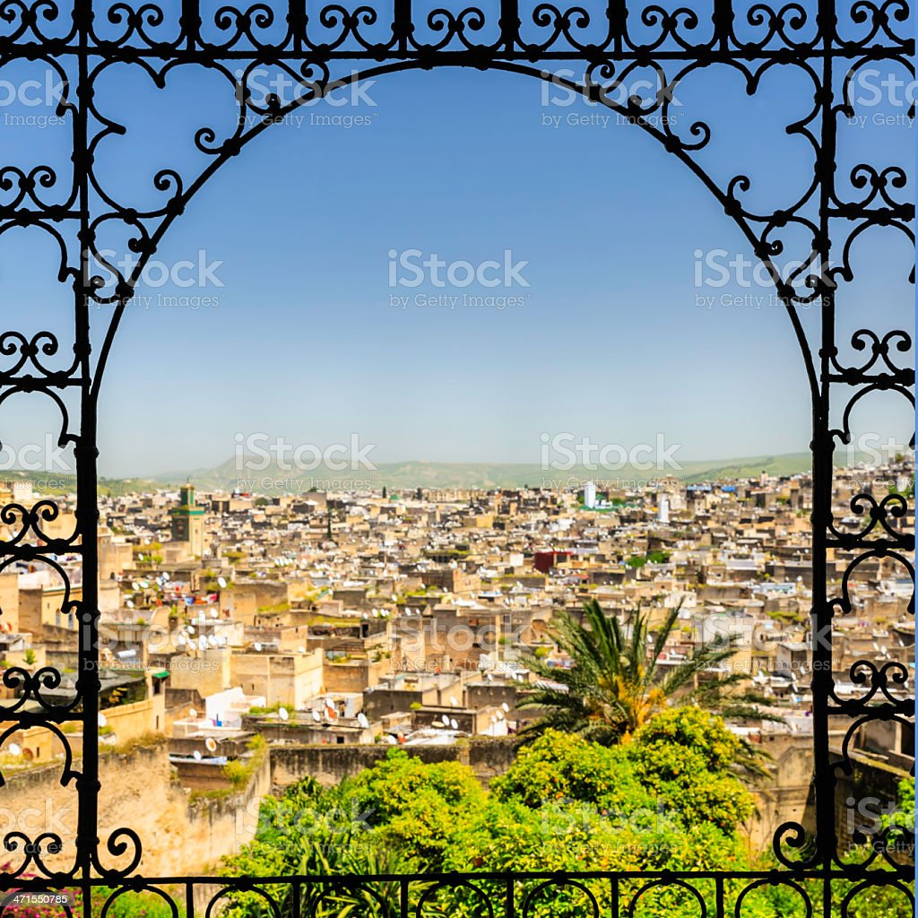 View of medina in Fez royalty-free stock photo