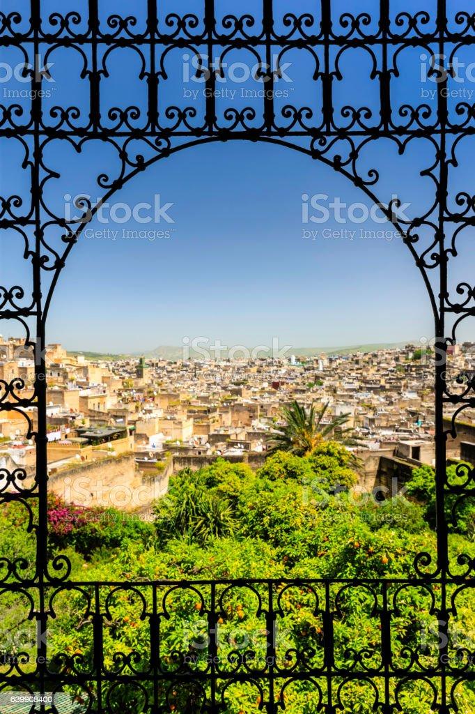 View of medina in Fez stock photo