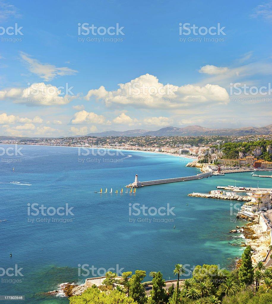 view of mediterranean resort, french riviera royalty-free stock photo