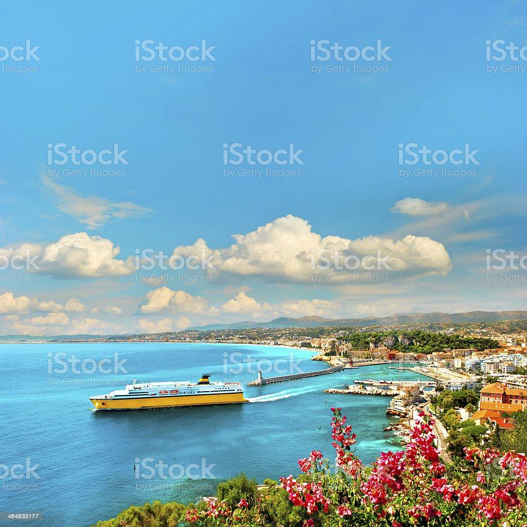 View of mediterranean resort Nice, France stock photo