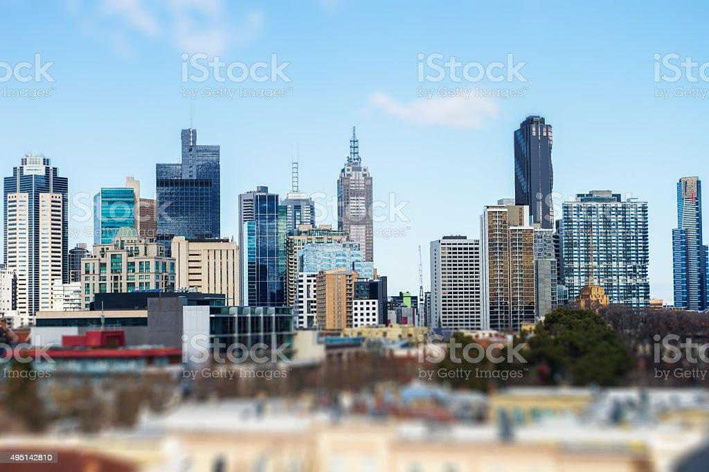 View of Melbourne City, Australia stock photo