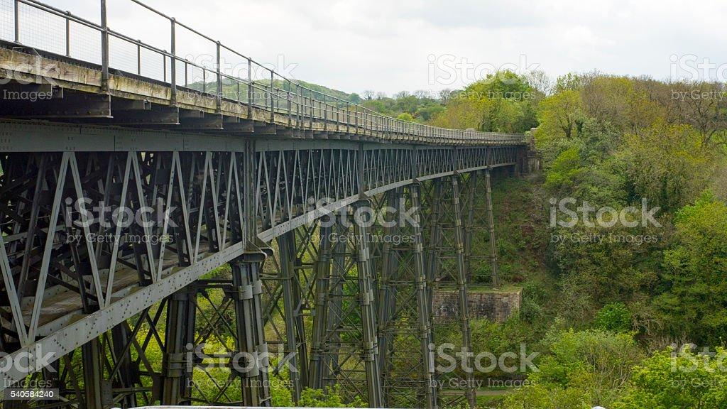 View of Meldon Viaduct stock photo