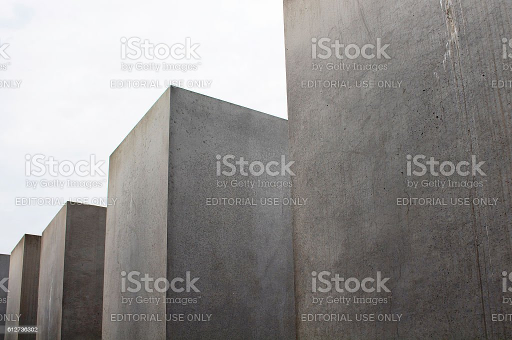 View of Memorial to the murdered Jews of Europe stock photo