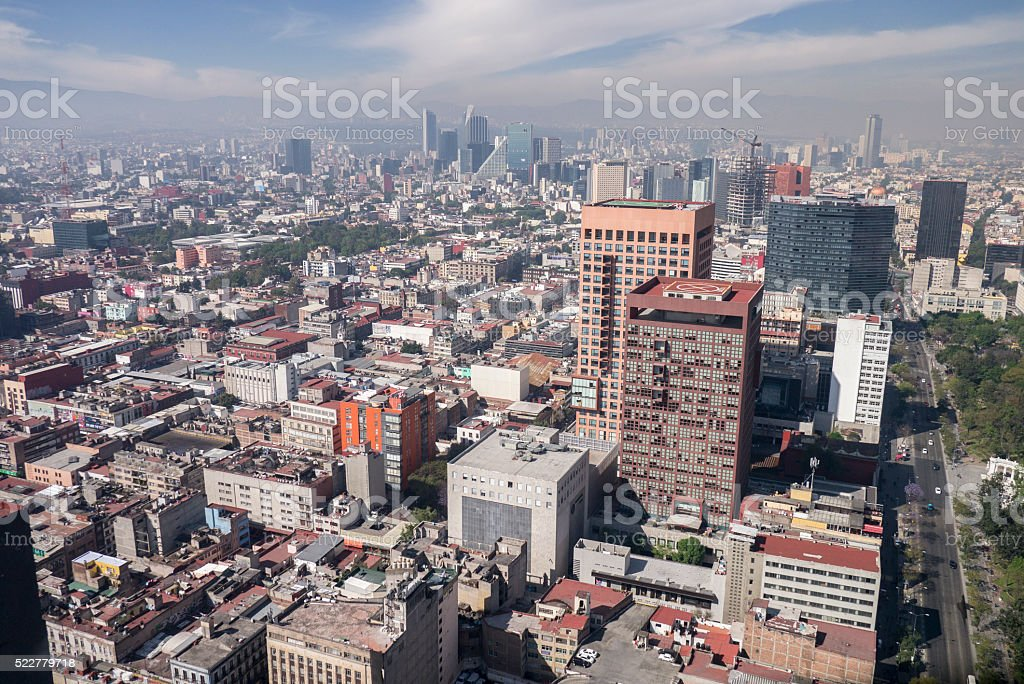 View of Mexico City. stock photo