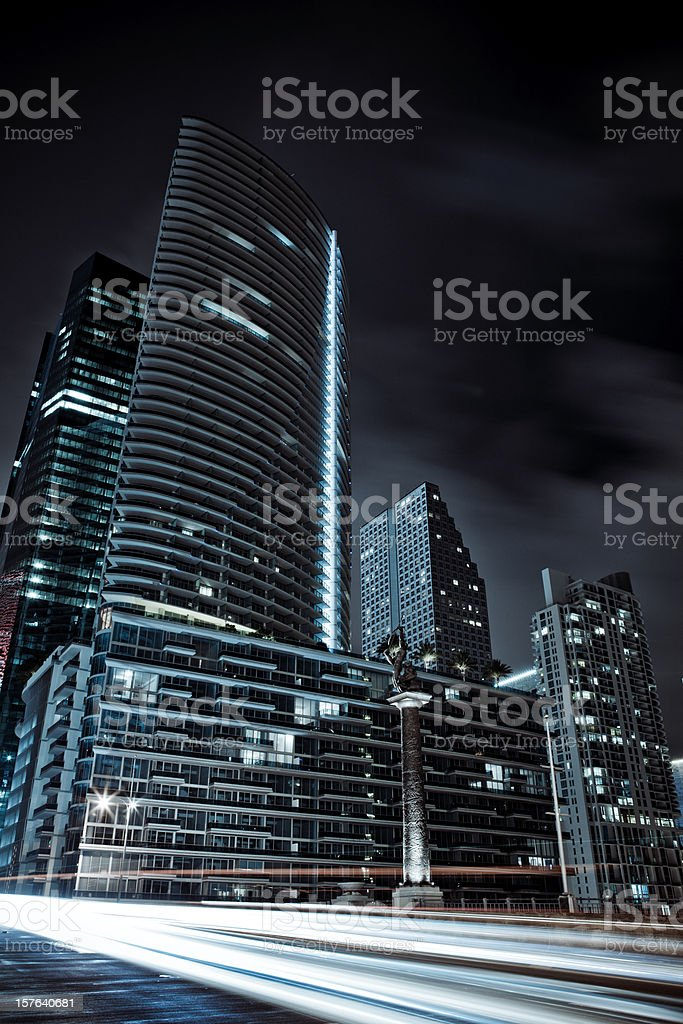 View of Miami Downtown and brickell bridge royalty-free stock photo