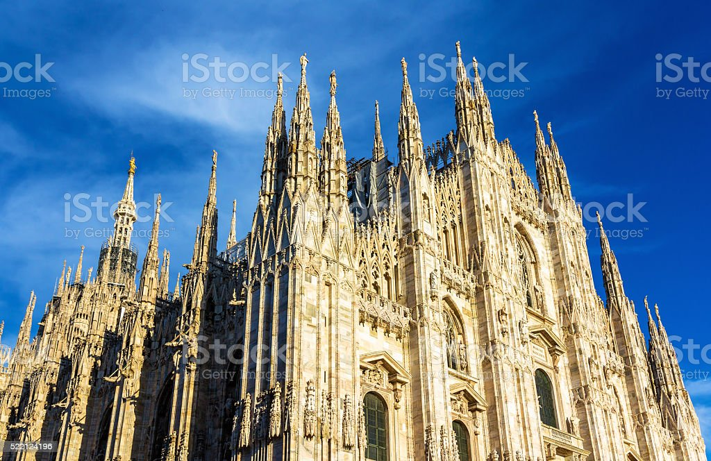 View of Milan Cathedral - Italy stock photo