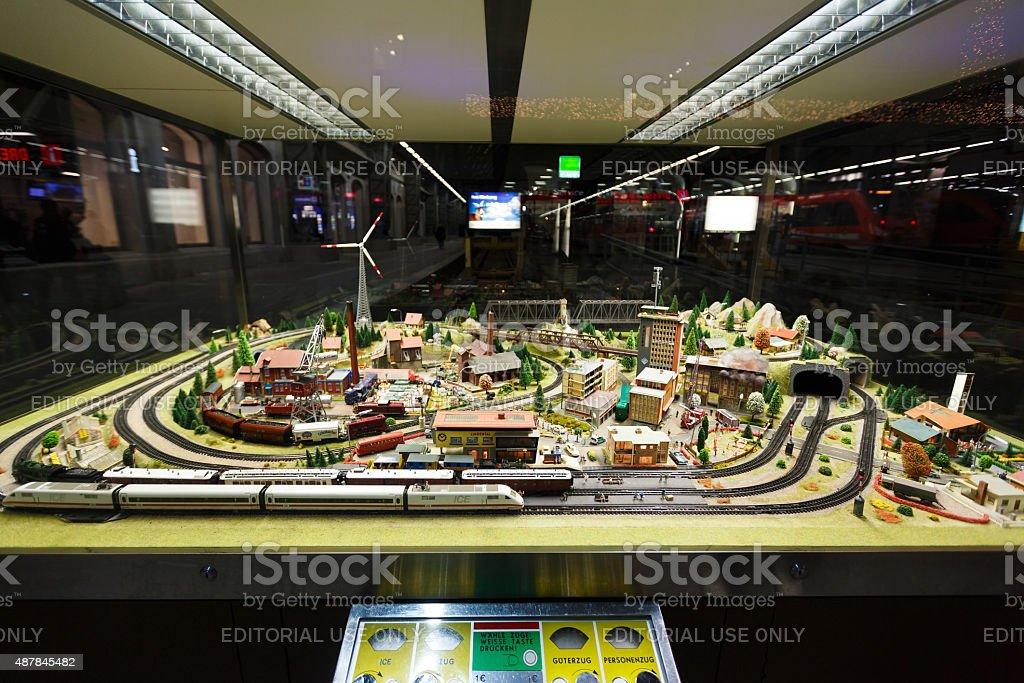 View of model railway in Dresden stock photo
