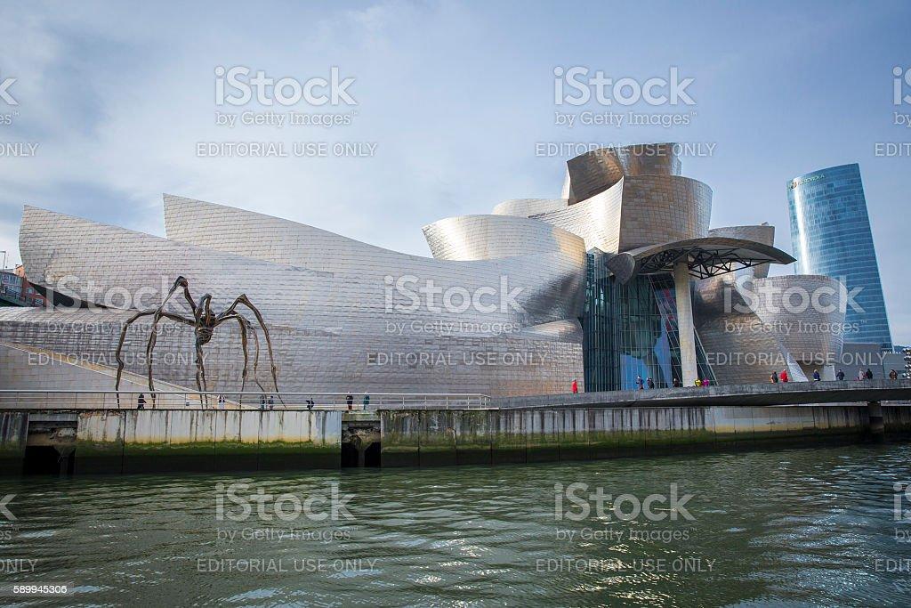 view of modern and contemporary art Guggenheim Museum stock photo