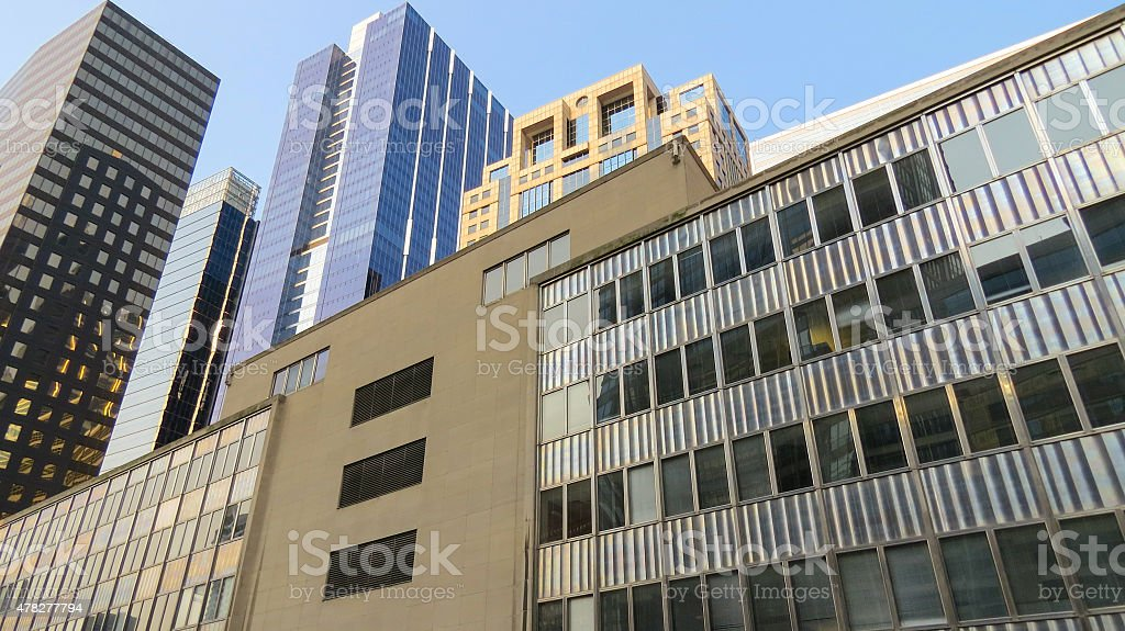 View of Modern Office Buildings royalty-free stock photo