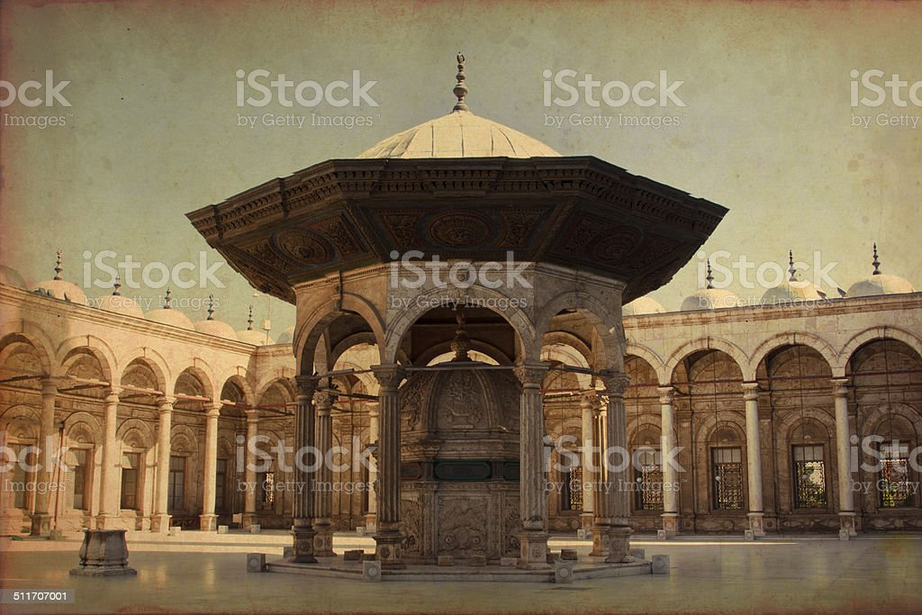 View of Mohamed Ali mosque stock photo