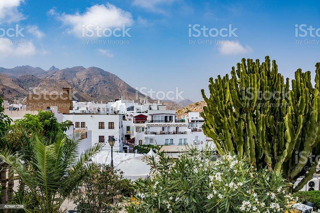 View of Mojacar, a small romantic town in Almeria province stock photo