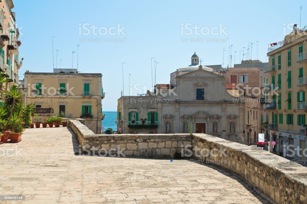 View of Molfetta. Puglia. Italy. stock photo