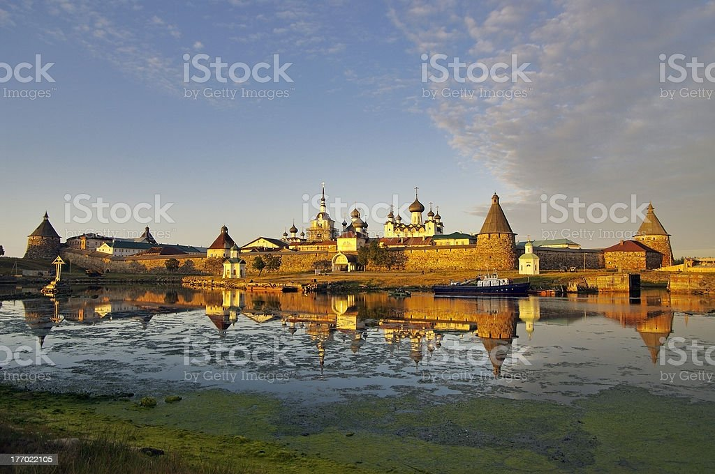 View of monastery on Solovetsky Islands. White Sea. Russia. royalty-free stock photo