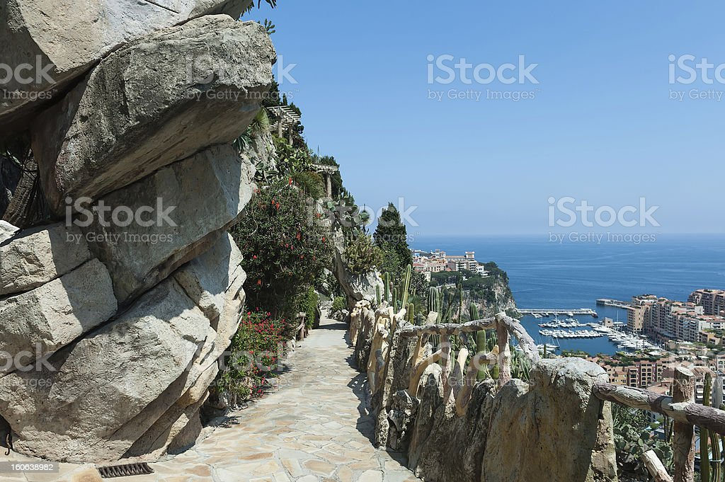View of Monte Carlo and the Mediterranean Sea stock photo