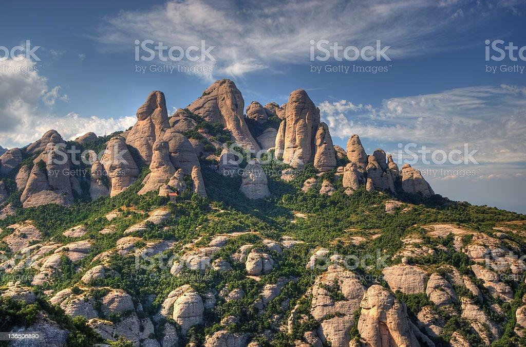 View of Montserrat mountains stock photo