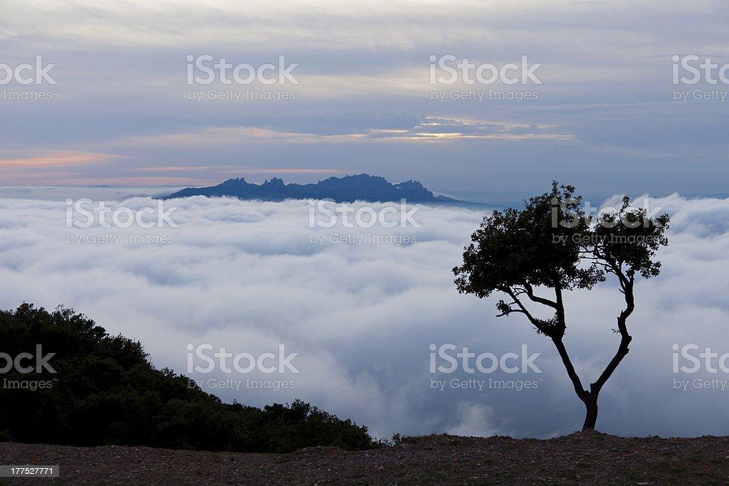View of Montserrat royalty-free stock photo