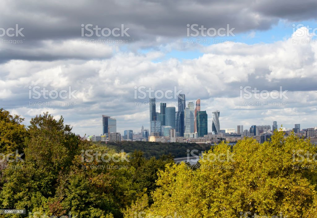 View of Moscow financial district and business center stock photo