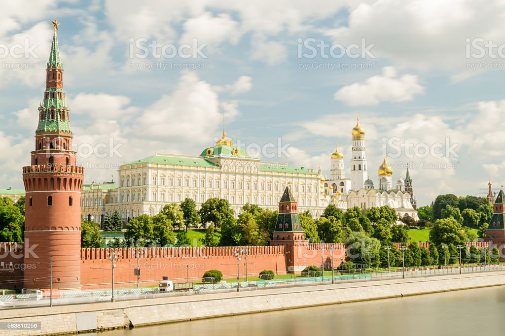 View of Moscow Kremlin. Russia stock photo