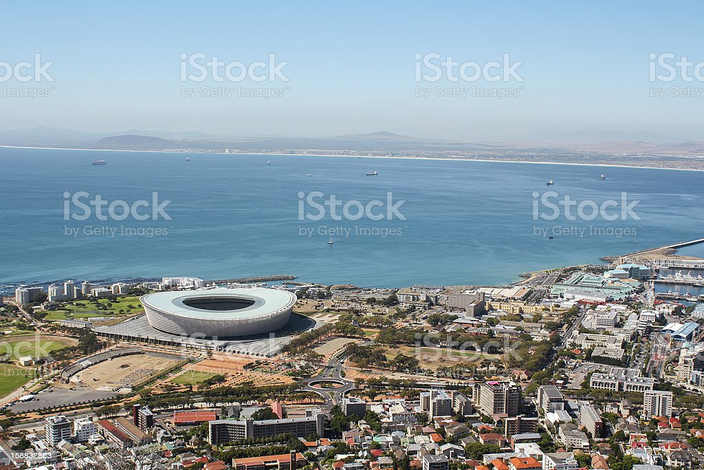 View of Mouille Point stock photo