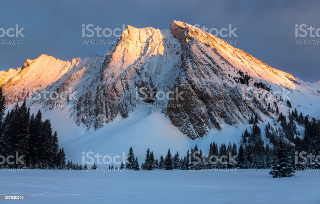 View of Mount Chester,  Kananaskis Country in Canadian Rockies stock photo
