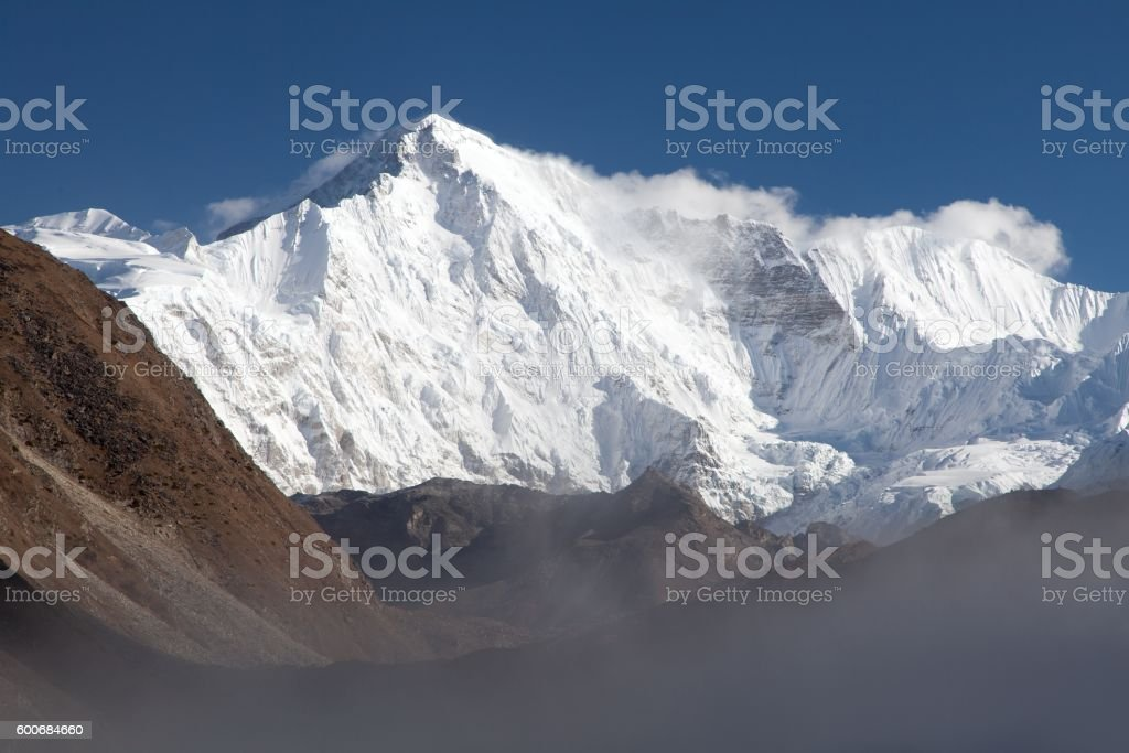 View of mount Cho Oyu stock photo