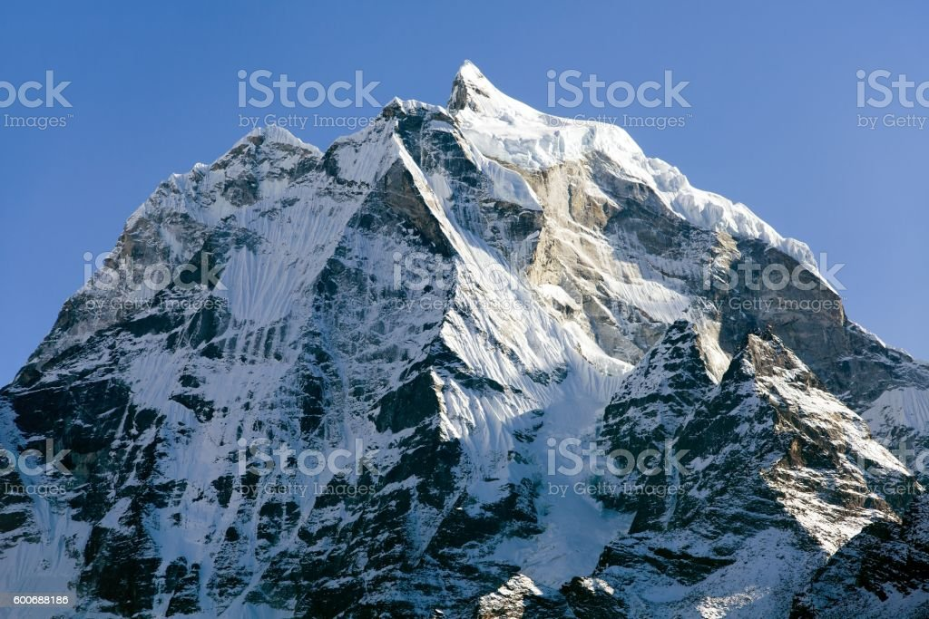 View of mount Kangtega stock photo