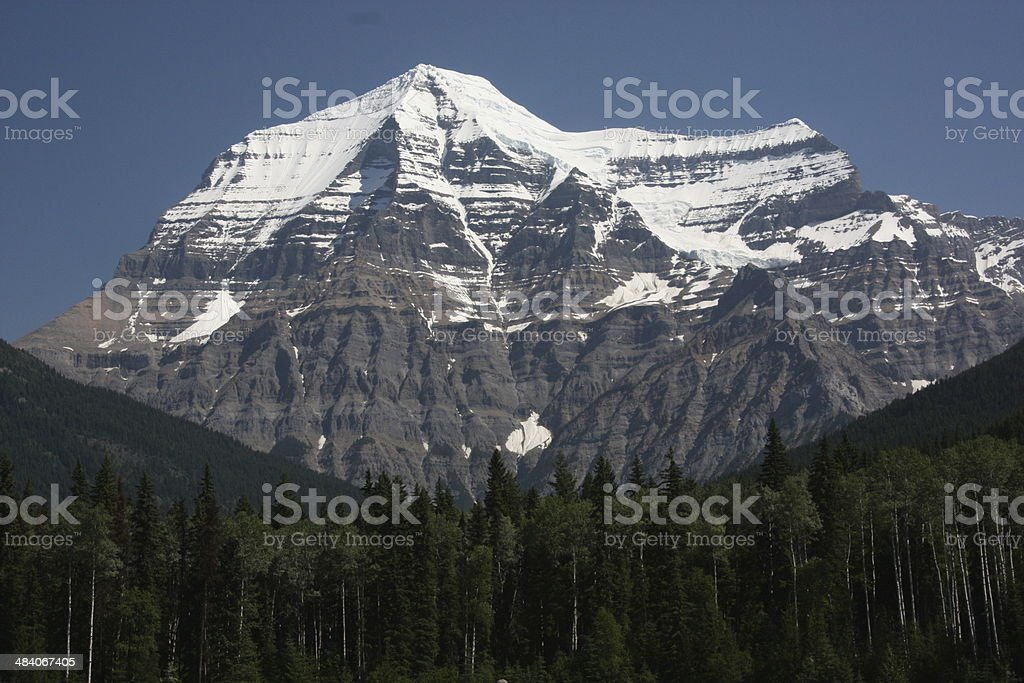 View of Mount Robson - British Columbia, Canada stock photo