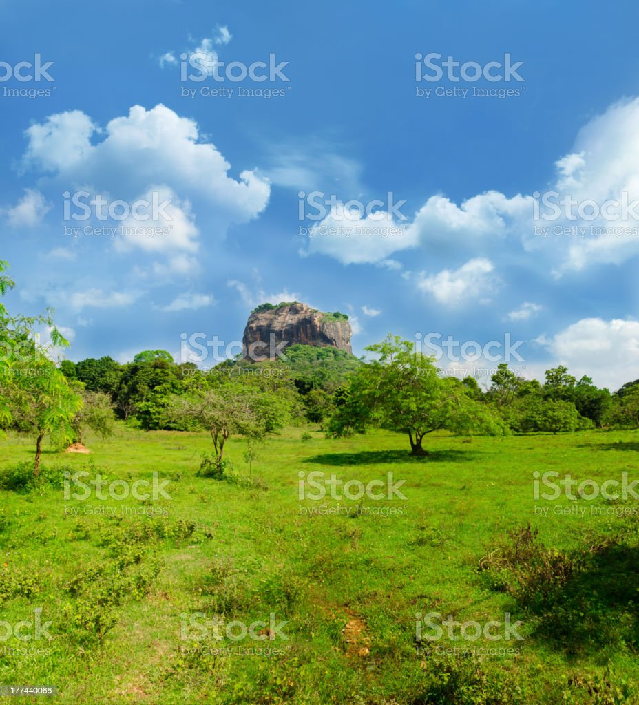 View of mount Sigiriya, Sri Lanka (Ceylon). royalty-free stock photo