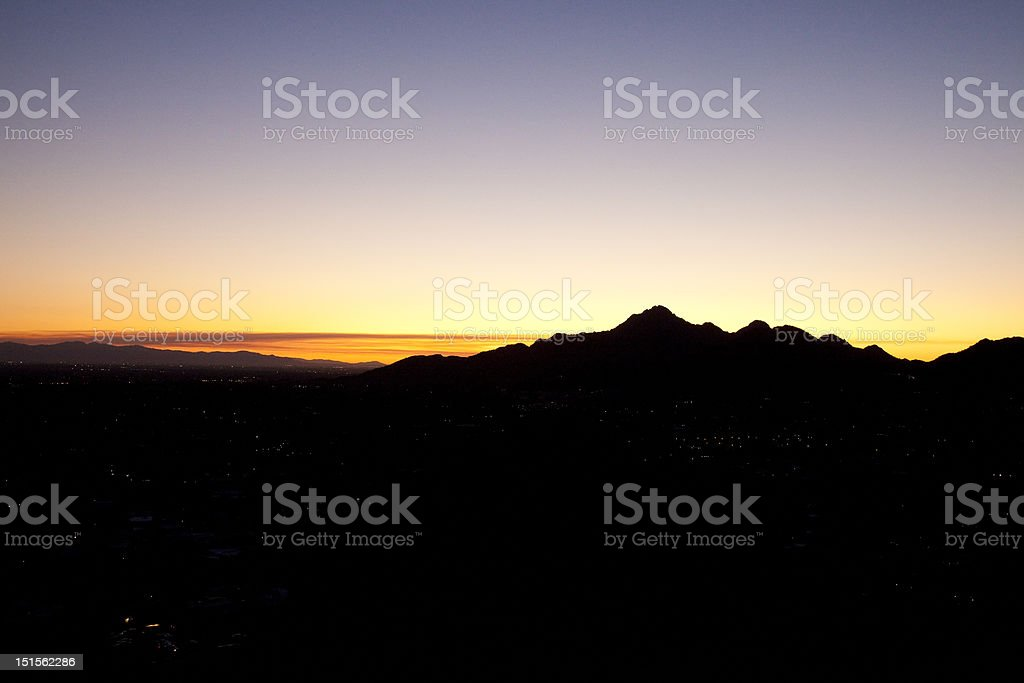 View of Mountains in Phoenix Arizona royalty-free stock photo