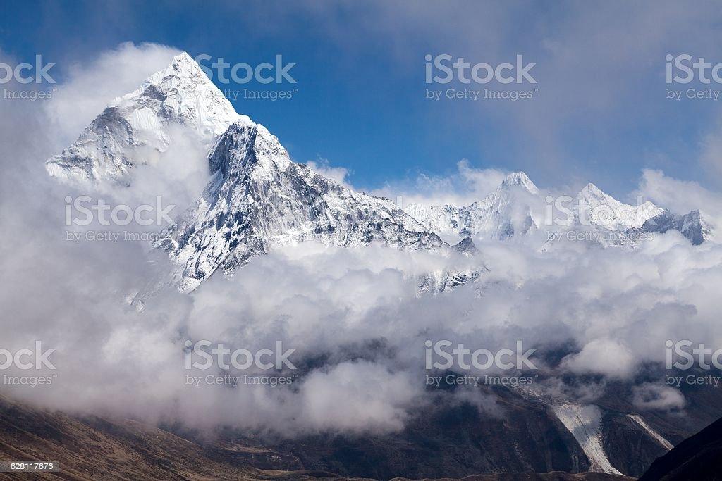 View of mt. Ama Dabla, Solu Khumbu, Nepal stock photo