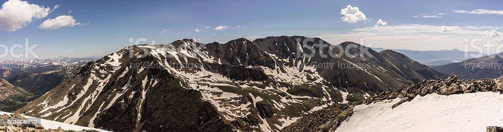 View of Mt. Massive.  Colorado Rocky Mountains, USA stock photo