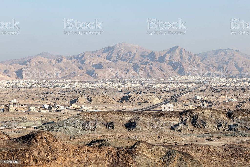 View of Muscat, Oman stock photo
