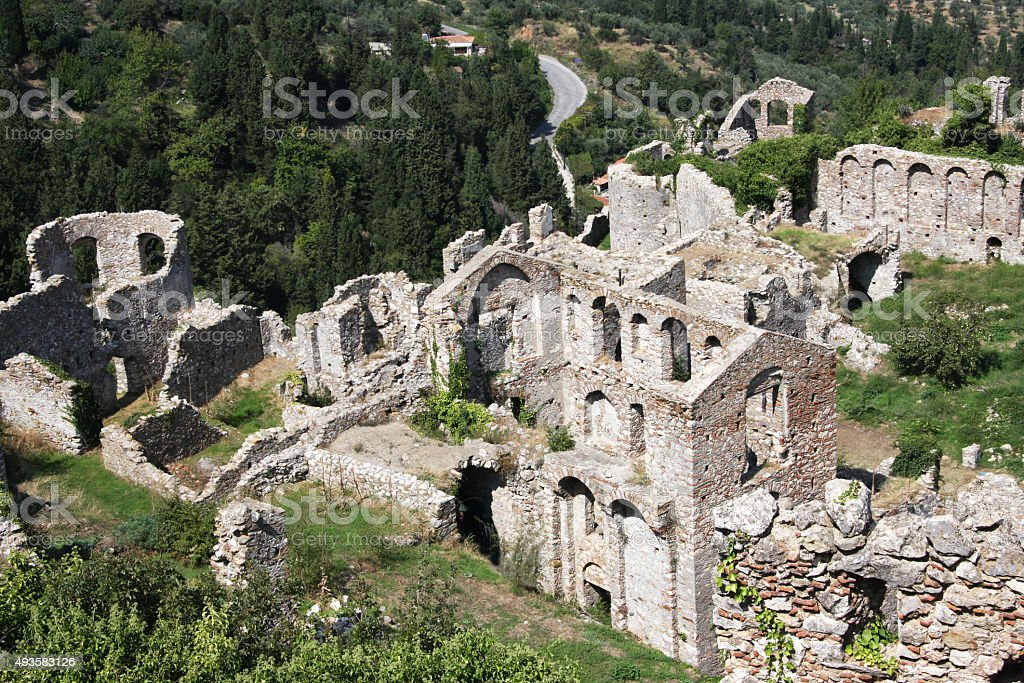 View of Mystras stock photo