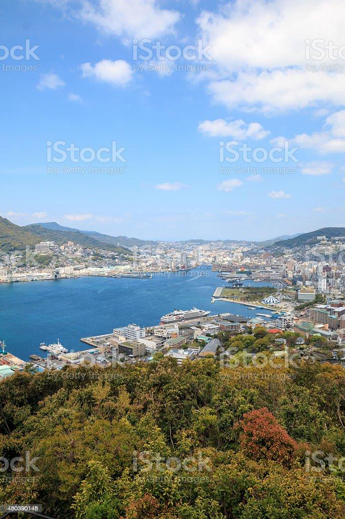 View of Nagasaki city stock photo