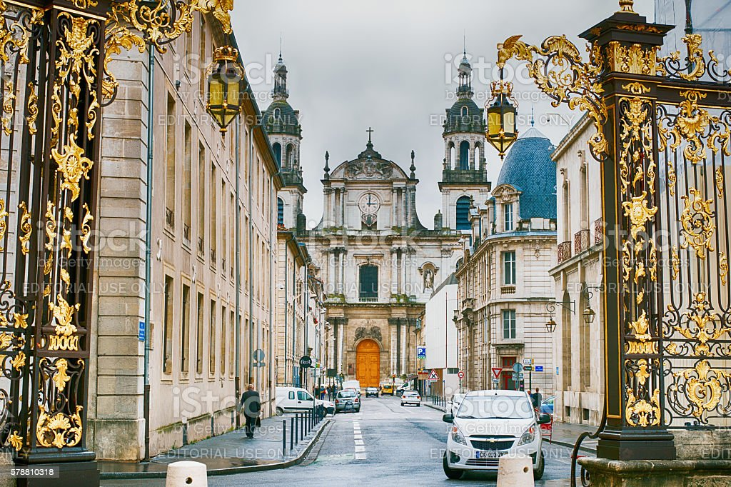 View of Nancy Cathedral - Lorraine, France stock photo