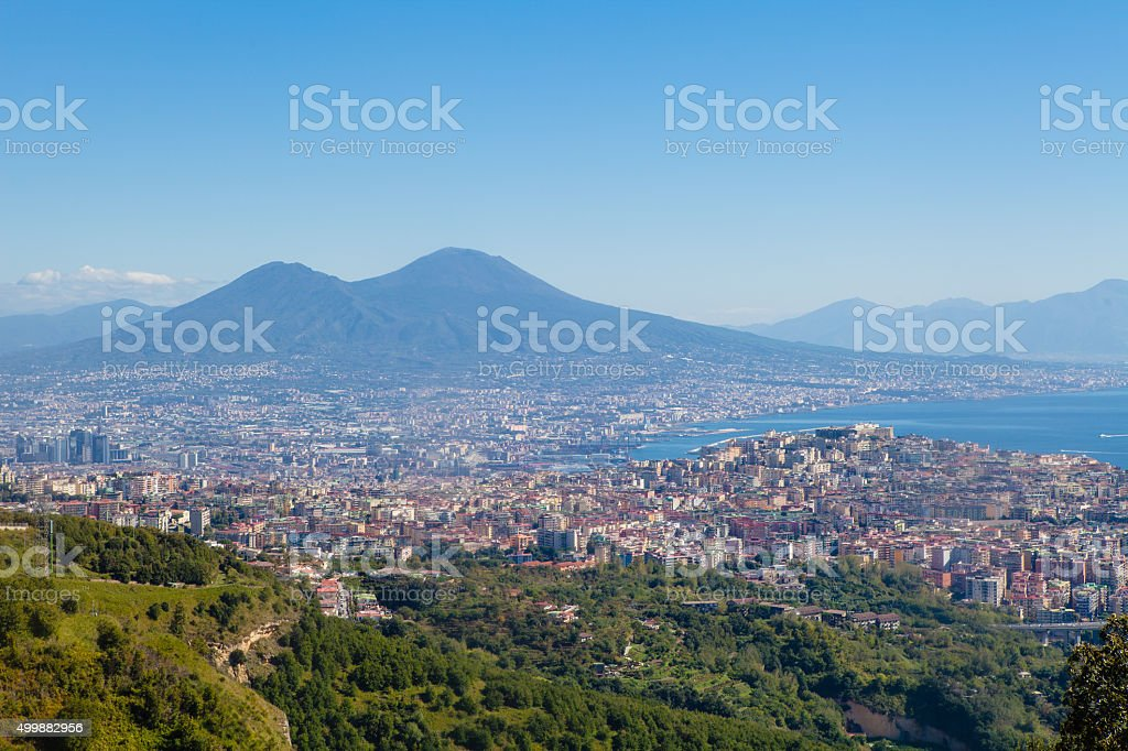 View of Naples Bay, Italy stock photo