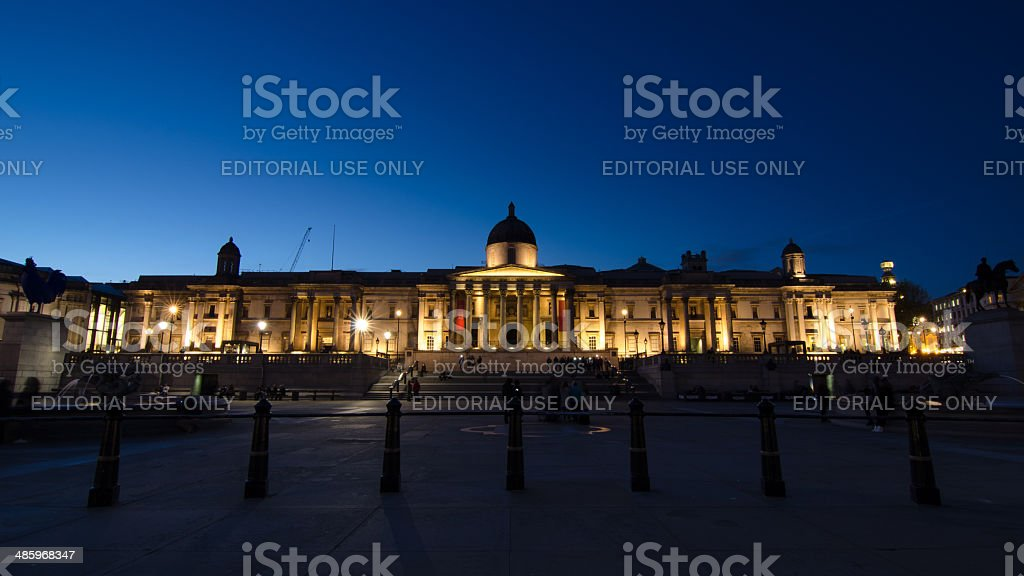 View of National Gallery Museum in London stock photo
