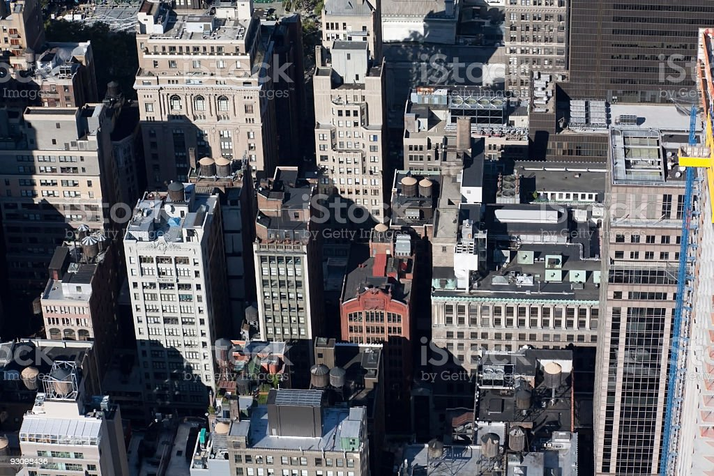 View of New York City Rooftops royalty-free stock photo