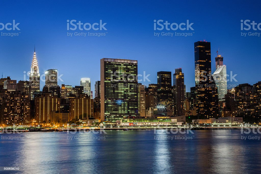 View of New York Midtown skyline stock photo